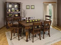 furniture low country black 6 piece 58x38 rectangular dining room dining sets