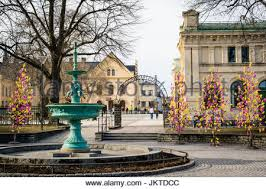 Easter Decorations Sweden by Uppsala Sweden Mar 26 2016 Street View Of Traditional
