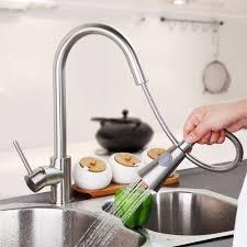 Tap Kitchen Faucet Kitchen Faucet Single Handle Sink Mixer Tap Brushed Nickel Swivel