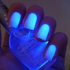 bys uv nail polish blue bolt