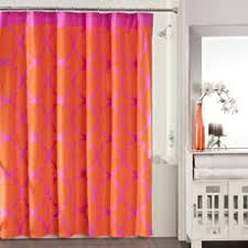 Pink And Orange Curtains Waterproof Polyester Yellow Shower Curtain Fall Wooden Bridge Lake
