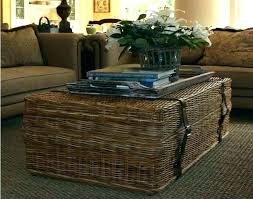 Wicker Trunk Coffee Table Wicker Coffee Tables Wicker Coffee Table With Storage