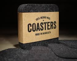 table coasters square felt coasters by dundry hill blue