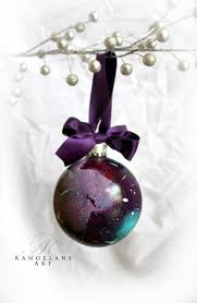 galaxy ornament hand painted christmas ornament galaxy art