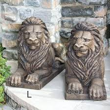 lion garden statue concrete lion garden statues 200years club
