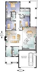 modele de terrasse couverte plan de rez de chaussée maison américaine garage double 3