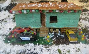 trailer park gingerbread house project quipster