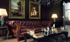 Tufted Leather Chesterfield Sofa by Furniture Blue Tufted Chesterfield Couch With Coffee Table For