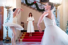 melania trump unveils white house christmas decor reigniting lies