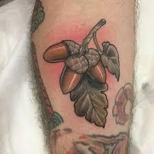 shin tatoos little tattoos u2014 neotraditional acorn and oak leaves on the left