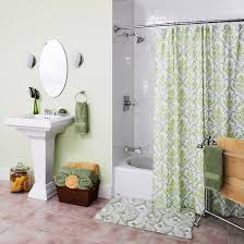 Bathroom Shower Rod Trending Now In Bathroom Decor Spacious Curved Shower Curtain