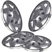 amazon com hubcaps for select trucks u0026 cargo vans pack of 4