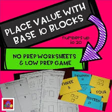 place value with base 10 blocks activity games worksheets and
