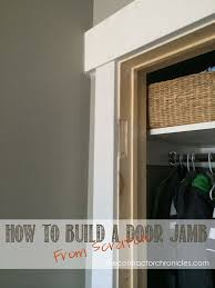 How To Install Interior Door Casing How To Build A Door Jamb From Scratch The Contractor Chronicles