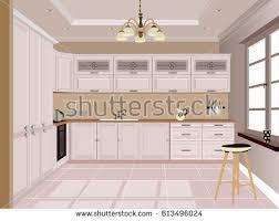 Design Of Modern Kitchen Apartament Stock Images Royalty Free Images U0026 Vectors Shutterstock