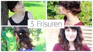 Schnelle Frisuren F Lange Haare Mit Pony by 3 Frisuren Für Mittellange Haare I Schnell Einfach Boho