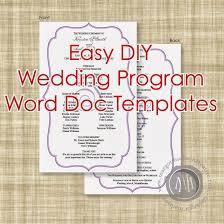 diy wedding programs template wedding program template word cyberuse