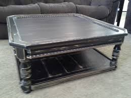 furniture legend star distressed coffee table with special accent