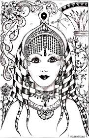 free coloring page coloring woman face india inspiration face of