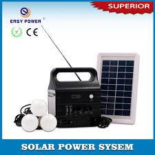 easy power emergency light china solar lighting system with radio speaker suppliers and