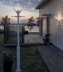 matching outdoor wall and post lights clear glass shade outdoor l post