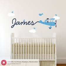 Wall Decal For Nursery by Airplane Skywriter Name Boy Wall Decal Graphic Spaces