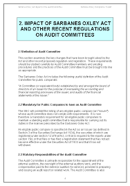 sarbanes oxley audit committee guide