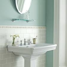 Duck Egg Blue Bathroom Tiles Fired Earth Fenlands Duck Egg Lichen And Heron Hand Finished