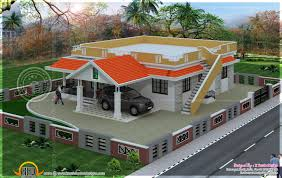 4 Bedroom Single Floor House Plans Front Elevation Of Single Floor House Kerala Ideas And Flat Roof