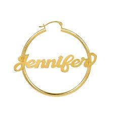 Gold Name Earrings Name Earrings Ebay
