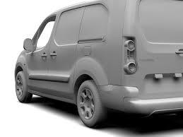 peugeot 206 van peugeot partner van l2 electric 2017 3d model vehicles 3d models