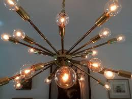 Vintage Sputnik Light Fixture Vintage American Midcentury Brass Sputnik Chandelier For Sale At