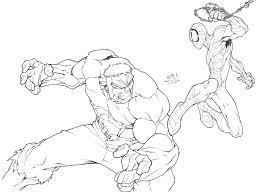 drawn hulk spiderman pencil color drawn hulk spiderman