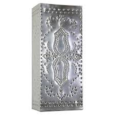 Tin Wall Sconce Mexican Tin Slender Perforated Wall Sconce