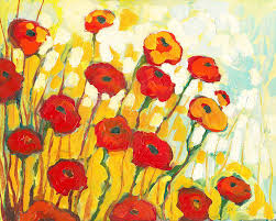 Vase With Red Poppies Poppies Paintings Fine Art America