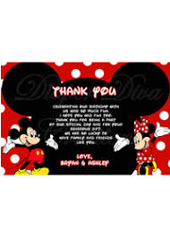 mickey mouse thank you cards thank you cards