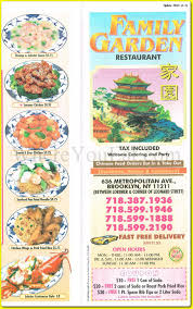 Family Garden Menu - family garden chinese restaurant in williamsburg brooklyn 11211