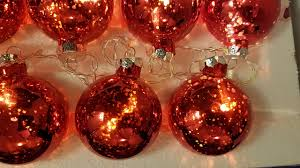 mercury glass string lights mercury glass ball string lights red battery powered 884916651828