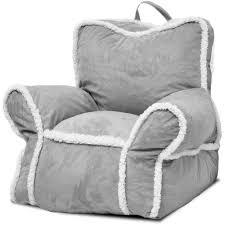 grey bean bag chair heritage kids suede bean bag chair with sherpa binding gray