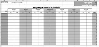 employee work schedule template business templates pinterest