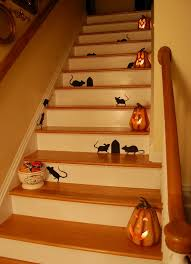 decorating for halloween martha stewart silhouettes and staircases