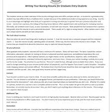 exle rn resume resumeursing school template format graduate application baylor