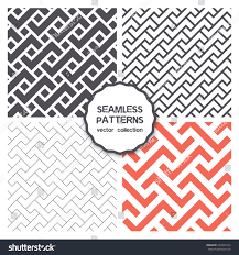 vector set four seamless patterns repeating stock vector 253825474