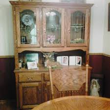 solid oak china cabinet best solid oak china cabinet 500 00 made by amish bought in union
