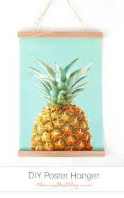 How High To Hang Art Make Your Own Poster Hanger Great Way To Display Art Without A