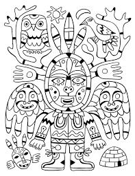 Voyage en coloriage 4  les Inuits  Fred Sochard illustration