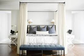 Black Canopy Bed Black Canopy Bed With On Blue Wall Transitional Bedroom
