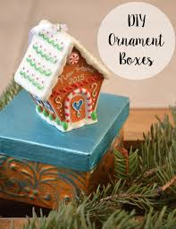 hallmark ornaments and diy metallic gift boxes one artsy
