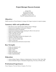 Sample Resume Objectives For Masters Degree by Resume Entry Level Project Manager Resume