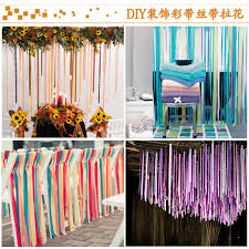 wedding backdrop taobao 0 35 2m high decorative ribbon curtain backdrop ribbon garland